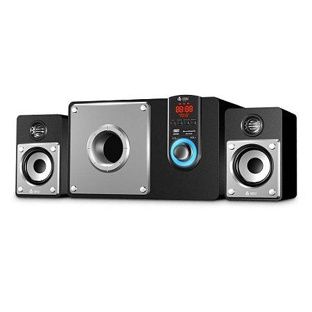 Som Speaker 2.1 Bluetooth 60w com 3 Subwoofer