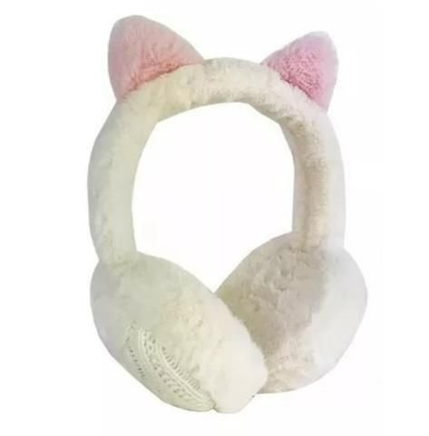 HEADPHONE ORELHA DE GATO PELUDO