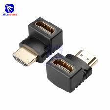Conector adaptador HDMI M/F 270º banhado de ouro