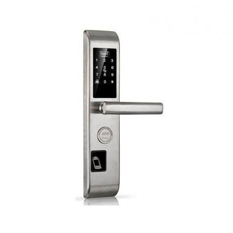 Fechadura Biométrica E Digital 3 em 1 bloqueio eletrônico Prata