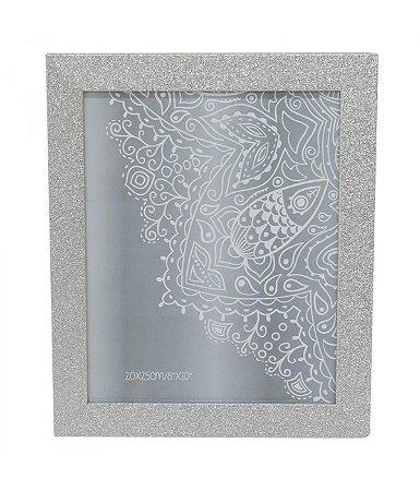 Porta-Retrato 20 x 25 cm Moldura Prateada com Purpurina