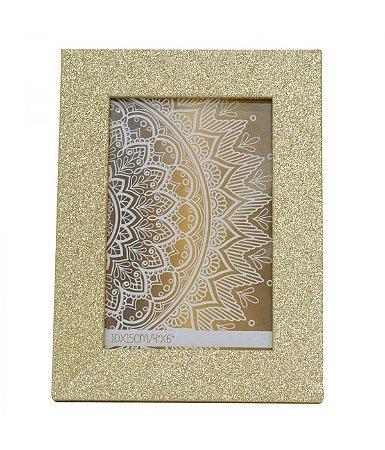 Porta-Retrato 10x15cm Moldura Dourada Porpurina