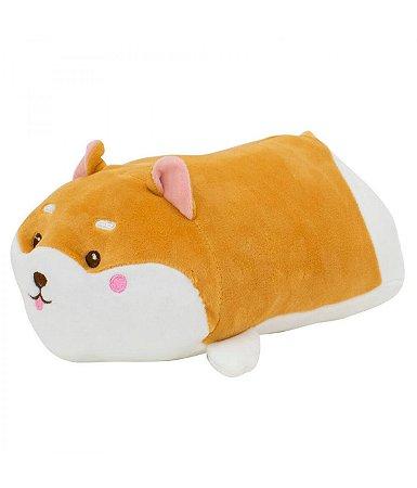Almofada Formato Cachorro Shiba Pelúcia 28cm