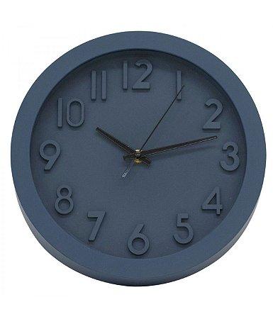 Relógio Parede Azul Acinzentado 25.5x25.5cm