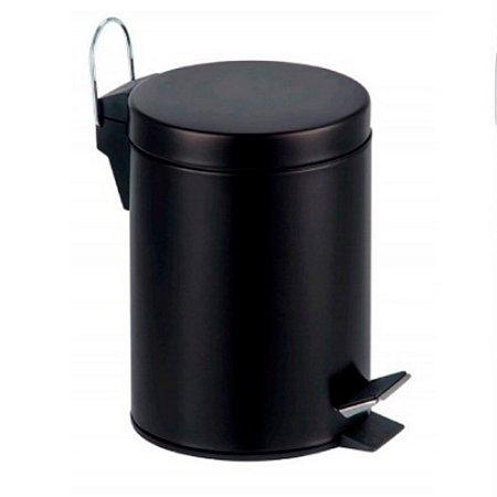 Lixeira Inox Preta 3L