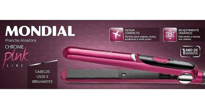 Chapinha Rosa Chrome Pink Line - Mondial