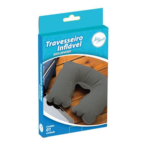 Travesseiro Almofada De Pescoço Inflável