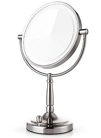 Espelho De Mesa Duplo Redondo Maquiagem Zoom De Aumento