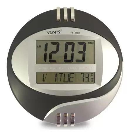 Relógio De Parede / Mesa Despertador Digital Redondo