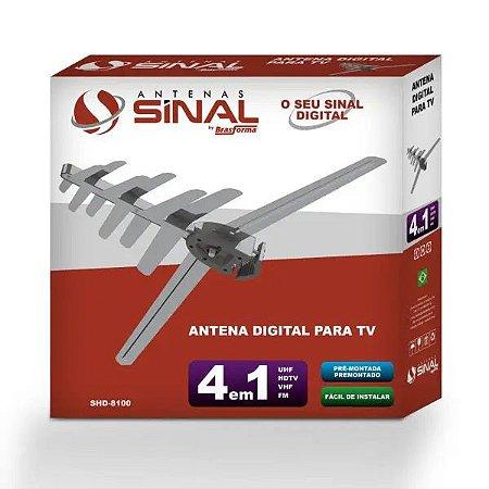 Antena Digital Externa 4 Em 1