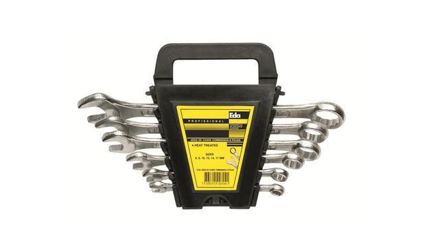 Jogo Kit Chaves Combinada C/ 6 Peças De 6 A 17mm - Eda