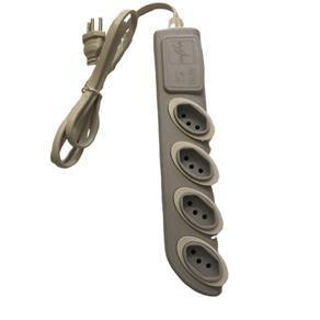 Extensão Elétrica Ruler 2p+t 4 Tomadas 1,3m Preta