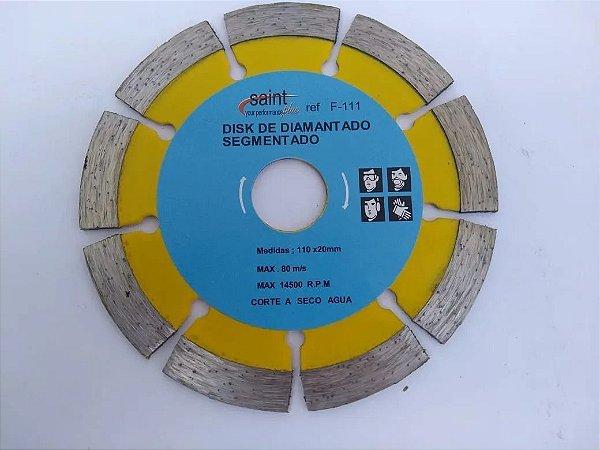 Disco Circular Serra Segmentado Concreto 110mm/ 20mm