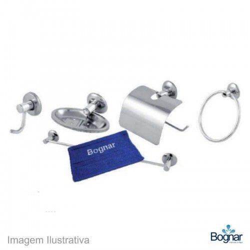 Kit Acesssório para wc Bognar Cromado 5pc