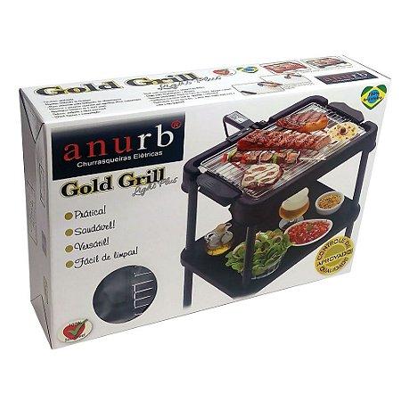 Churrasqueira Elétrica Portátil Gold Grill Light Plus