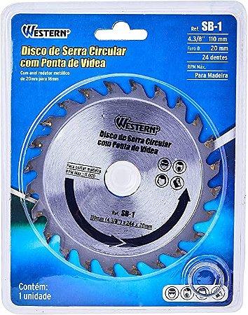 Disco De Serra Circular C/ Ponta De Vídea Western Sb-1