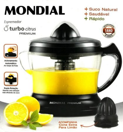 Espremedor De Frutas Mondial Premium