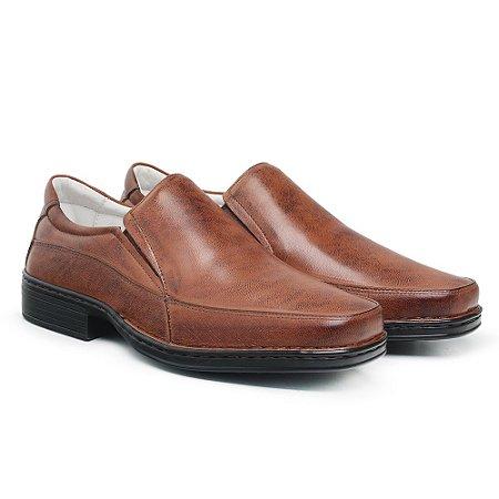 Sapato Masculino De Couro Legítimo Comfort - Ref. 008S Havana
