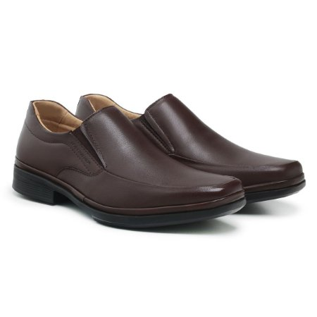Sapato Social Masculino De Couro Paris Dark Brown - Ref. 44501