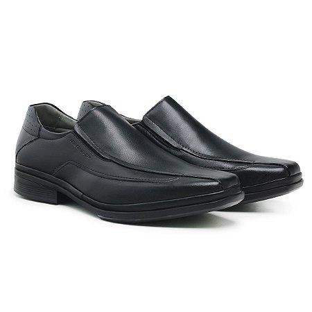 Sapato Social Masculino De Couro Paris Preto - Ref. 44503