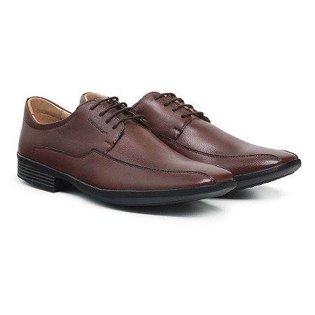 Sapato Social Masculino De Couro Urano Café - Ref. 45501