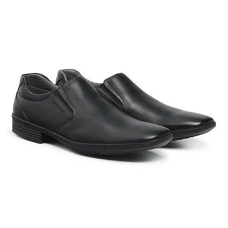 Sapato Social Masculino De Couro Air Tech Preto - Ref. 45505