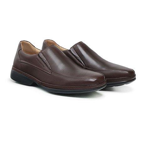 Sapato Social Masculino De Couro Ultra Comfort Dark Brown - Ref. 46101