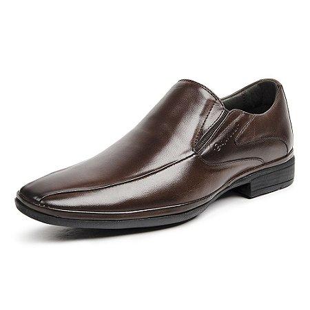 Sapato Social Masculino Savelli De Couro 1232 Café - Super Liquidação