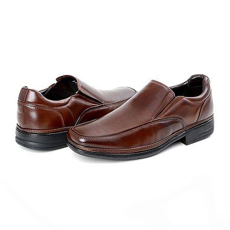 Sapato Social Masculino Savelli De Couro 6010 Café - Super Liquidação