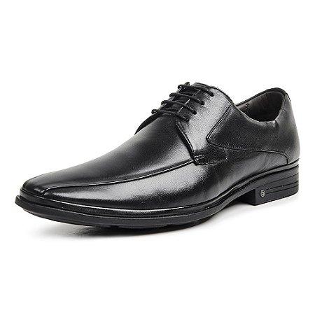 Sapato Social Masculino Savelli De Couro 1222 Preto - Super Liquidação