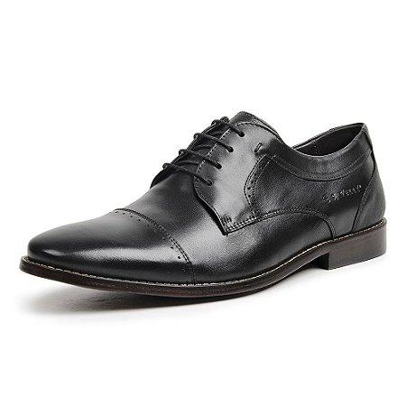 Sapato Social Masculino Savelli De Couro 5614 Preto - Super Liquidação