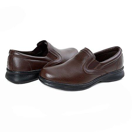 Sapato Social Masculino De Couro Legítimo 6014 Café - Super Liquidação