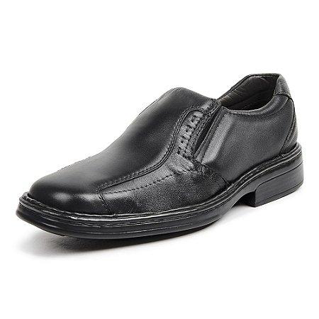Sapato Social Masculino De Couro Legítimo 10002 Preto - Super Liquidação