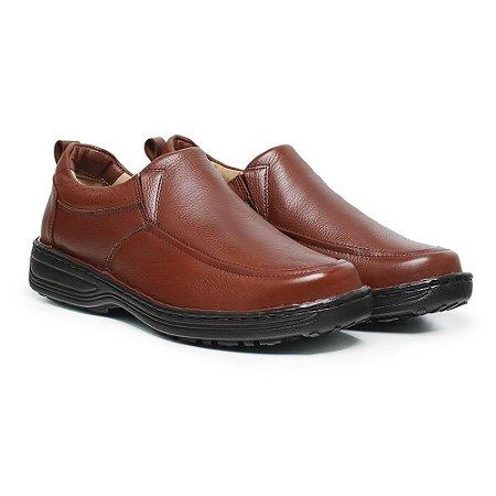Sapato Masculino De Couro Legítimo Comfort Shoes - 8001 Havana