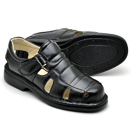 Sandália Comfort de Couro Legítimo - Ref.3601