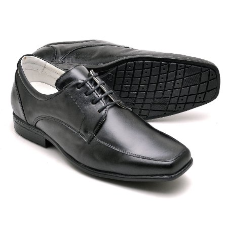 Sapato Social Masculino de Couro Legítimo Preto - Ref.020