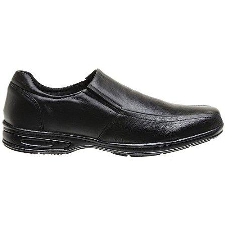 Sapato Social Em Couro Legítimo Preto - Ref. 5030