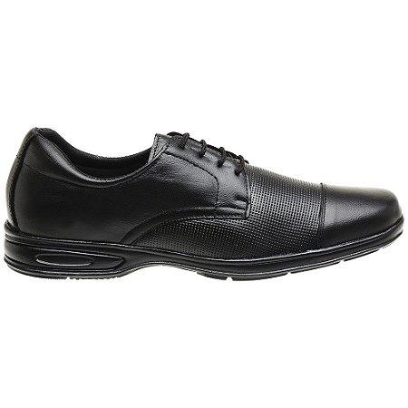 Sapato Social Em Couro Legítimo Preto - Ref. 5051