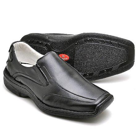 Sapato Comfort de Couro Legítimo Preto - Ref.2015