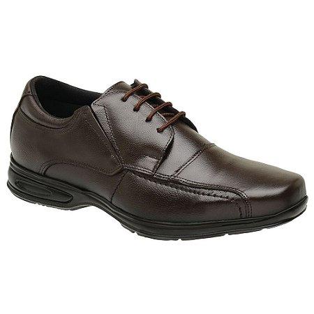 Sapato Social Masculino Em Couro Legítimo Café - Ref. 5070