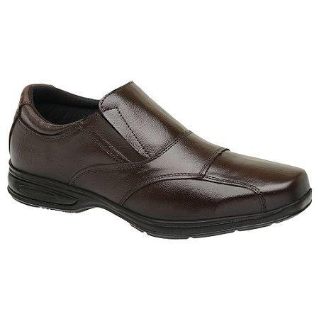 Sapato Social Masculino Em Couro Legítimo Café - Ref. 5080