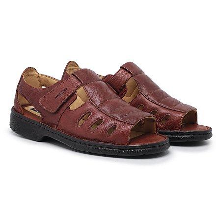 Sandália Masculina Em Couro Legítimo Havana Comfort Shoes - 309