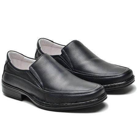 Sapato Masculino De Couro Legítimo Comfort - Ref. 008S Preto