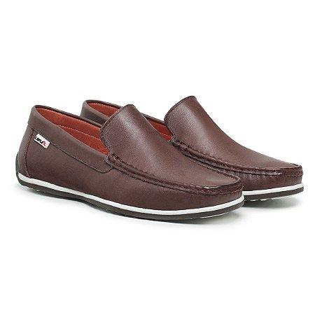 Mocassim Masculino De Couro Comfort Shoes - Ref. 5020 Café