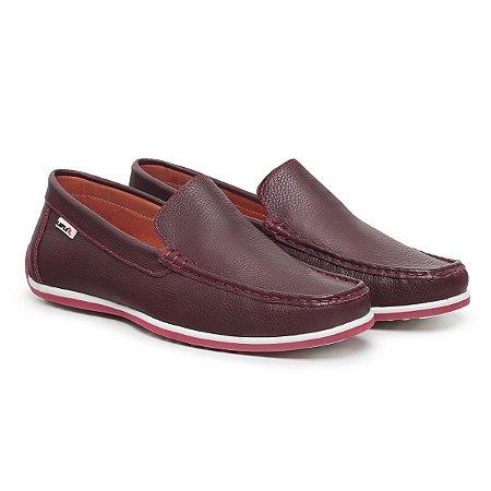 Mocassim Masculino De Couro Comfort Shoes - Ref. 5020 Bordo
