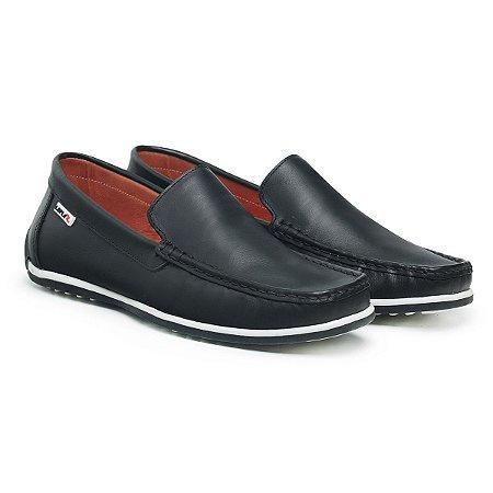 Mocassim Masculino De Couro Comfort Shoes - Ref. 5020 Preto