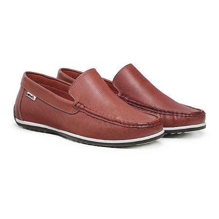 Mocassim Masculino De Couro Comfort Shoes - Ref. 5020 Pinhão