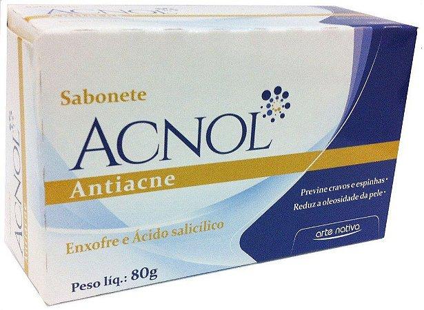 SABONETE EM BARRA ACNOL ACTIACNE 80GR