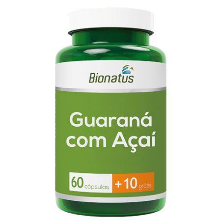 GUARANÁ COM AÇAI BIONATUS 60 CAPSULAS + 10 GRÁTIS