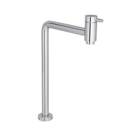 Torneira de mesa bica alta de 90 graus para lavatório Link